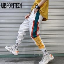 Pantalón estilo hip hop para hombre, leggings masculinos de empalme a la moda, informales y con cintura elástica para correr