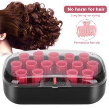 110-220 В вилка США 15 шт. электрчи для завивки волос стержни для завивки волос ролик 30 мм зажимы для волос заколка для завивки волос Ролики инструмент для укладки