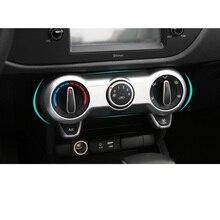 Lsrtw2017 Abs Car Air Conditioning Switch Frame for Kia Rio X Line Kx Cross K2 Rio 2017 2018 2019 2020 Interior Accessories накладки под ручки дверей kx cross для kia rio x line 2017