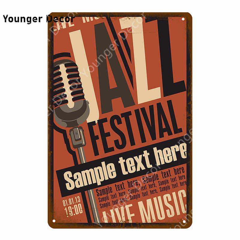 Retro Rock Roll plakat Country Music Jazz ACDC metalowe tabliczki zespół w stylu Vintage Party Decor Pub Bar Cafe Club dekoracje ścienne YI-092