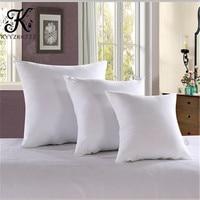 Простая и практичная Подушка, украшение для гостиничной кровати, белая заполненная подушка, квадратная подушка, постельное белье, Нетканая ...