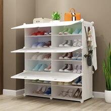 Reine Weiß Neue Multi-schicht Harz Wohnzimmer Einfache Einfache Schuh Rack DIY Montage Großhandel Kunststoff Einfache Schuh Schrank