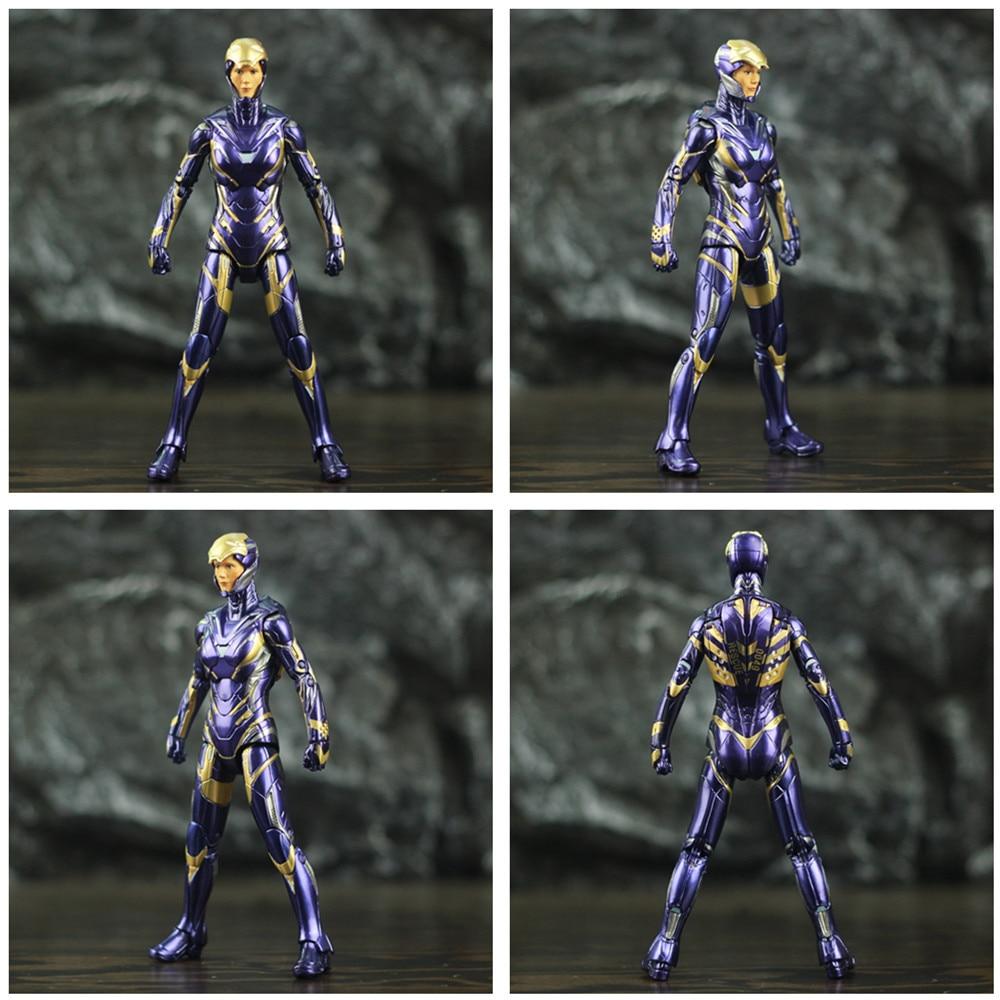 "Image 2 - Marvel 2019 Avengers 4 Endgame Iron Man Rescue Pepper Potts 7"" 17cm Action Figure Ironman Legends Lady Purple Armor ZD Toys DollAction & Toy Figures   -"