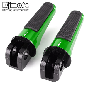 Image 2 - Pair Front Foot Pegs For KAWASAKI Z750R Z800 Z1000 Z1000R ZX 6R 636 ZX 10R Motorcycle Accessories Footrest Rider Pedal