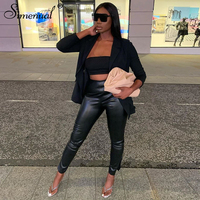 Leather Women Pencil Pants  1