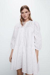 Женское белое платье с вышивкой zaraing vadiming sheining, европейский стиль, весна-лето 2020