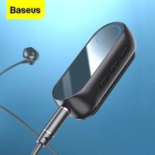 Baseus Bluetooth 5.0 alıcı 3.5mm Jack kulaklık kulaklık kablosuz adaptör 3.5 Jack Bluetooth Aux ses müzik verici