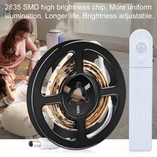 купить LED Strip lamp Use In TV Under Bed Cabinet Closet Wardrobe Stairs Door LED Strip Wireless Motion Sensor Night light 1M 2M 3M дешево