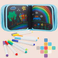 Kid Portable Painting Book Double-sided Erasable Drawing Book Animal Graffiti Writing Board Supplies Early Education Gift