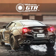 1/32 Diecasts Toys GTR Alloy Metal Collection Mockup Pull Back Car Models Anniversary Souvenir Birthday Gift for Kids Vehicles(China)