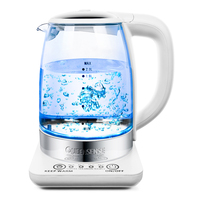 2L Electric kettle Intelligent insulation glass electric temperature teapot Blue Light Manganese Anti-Dry water pot 220v