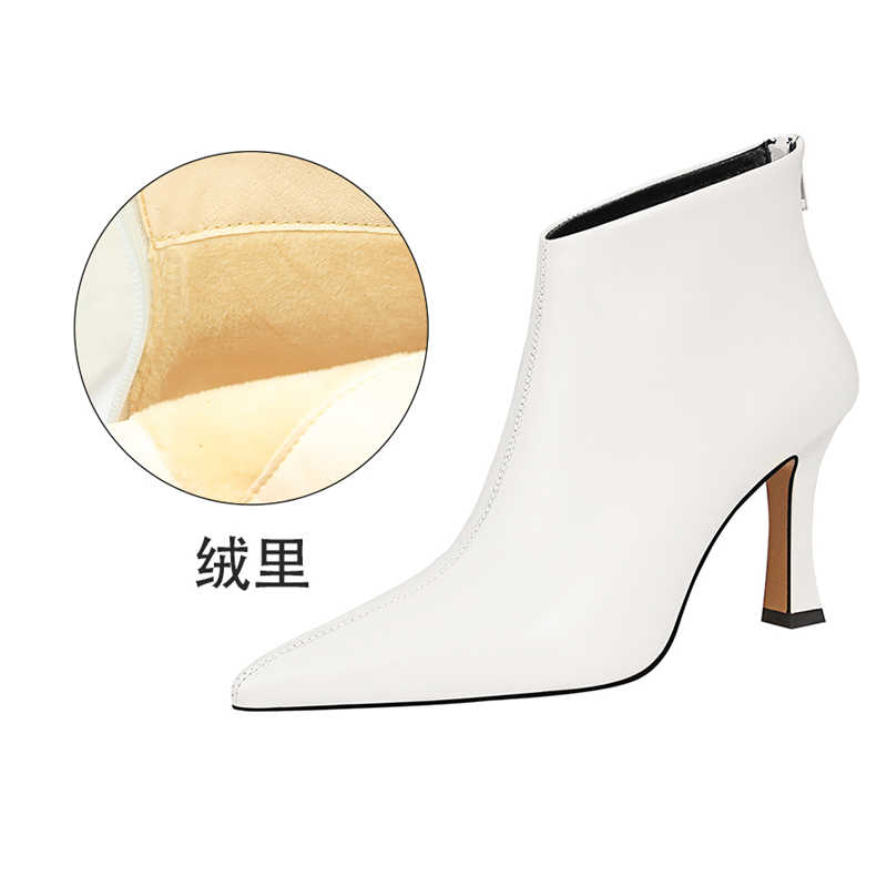 Blanc Stretch Chaussette Chaton Bottines à Talon Talons Hauts Chaussures Taille 3 4 5 6 7 8