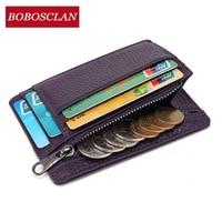 BOBOSCLAN Genuine Leather Women Wallet Female Rfid Wallets Portomonee Card Holder Lady Walet Luxury Money Bag Zipper Coin Purses