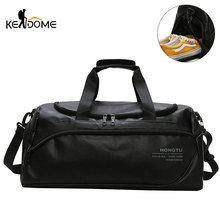 Shoulder Soft Leather Gym Bags Travel Bag for Men Men Sports Fitness Gymtas Duffel Training Luggage Tas Sac De Sport 2019 XA5WD