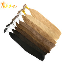 "Sindra 14""-24"" Remy Hair Extensions Keratin Straight Nano Link Human Hair 50Pcs 100Pcs(China)"