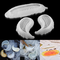 Angel Wing Storage Tray Silicone Molds Feather Dish Plate UV Epoxy Resin Mold For DIY Art Carfts Jewelry Making Resin Mold