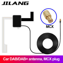 Jilang DAB MCX Car Digital Active Antenna for Radio TV Receiver Box Auto cat Radio Aerial 3 meters Cable strong stable signal(China)