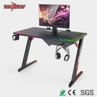 Luxury E sports computer table notebook desktop computer special table RGB light cool game table home desk Internet bar table