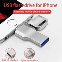 USB 3.0 Flash Drive 64GB Lightning Metal Pen Drive U Disk For iPhone 11 x 8 7 7Plus 6 6s 5 se iPad iPod PenDrive Memory Stick|USB Flash Drives| |  -