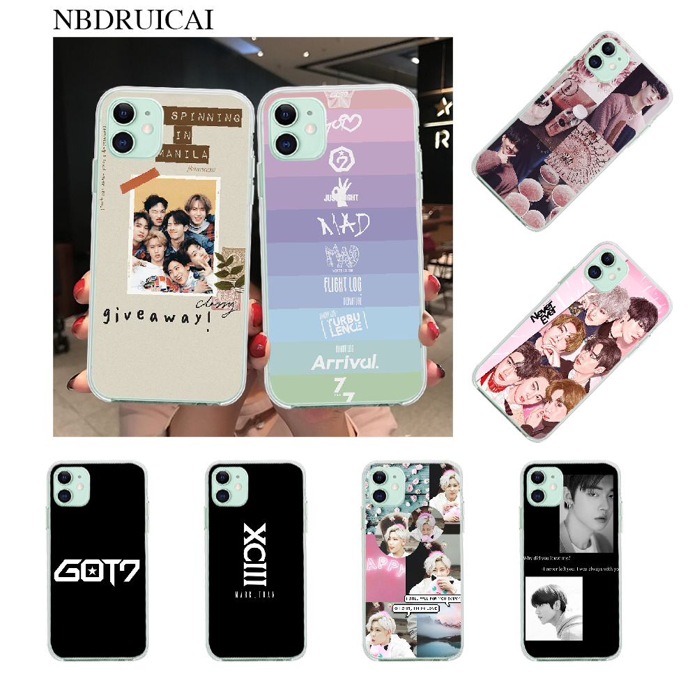 Nbdruicai Aesthetic Kpop Got7 Bling Cute Phone Case For Iphone 11 Pro Xs Max 8 7 6 6s Plus X 5s Se Xr Cover Phone Case Covers Aliexpress
