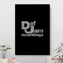 Def jam gravações parede lona decoração para sala de estar, decoração para casa, filme cartaz, cuadros modernos