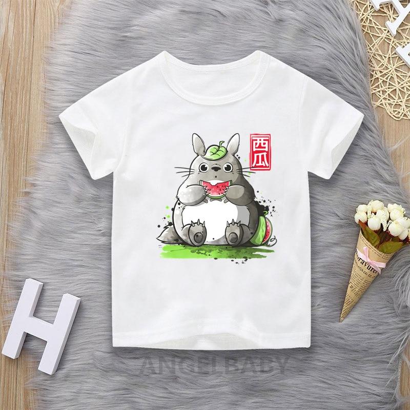 Miyazaki Hayao Anime My Neighbor Totoro T Shirt For Boys Cartoon Kids Tops Baby Girls Clothes Funny Children T-shirt,HKP2143