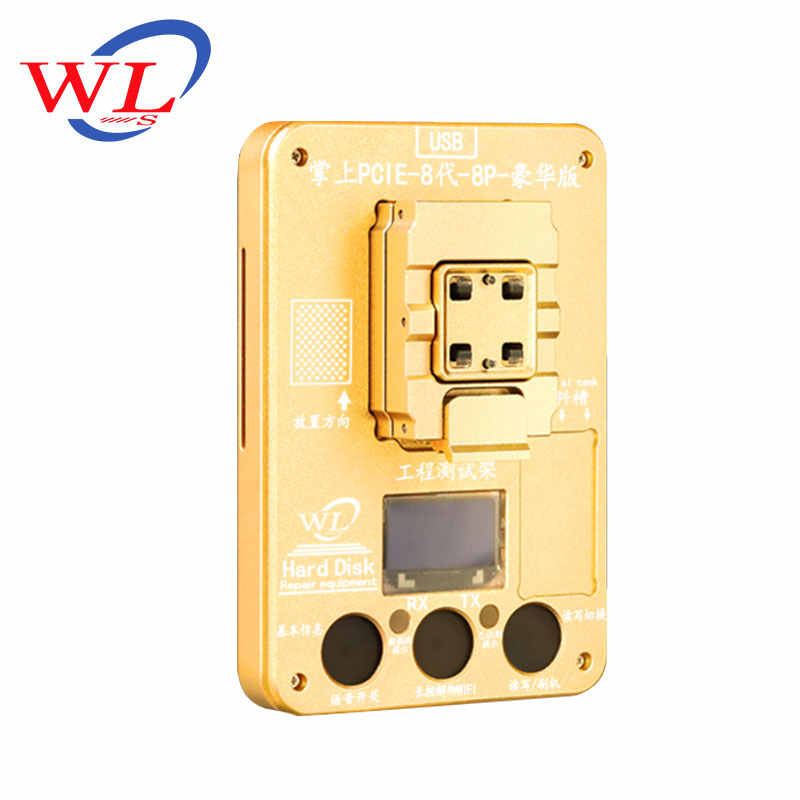 WL โรงงาน Store PCIE โปรแกรมเมอร์ NAND Test Fixture สำหรับ iPhone iPhone 8 8Plus X ถ่ายทอดและ Reader Hard Disk อุปกรณ์ซ่อม