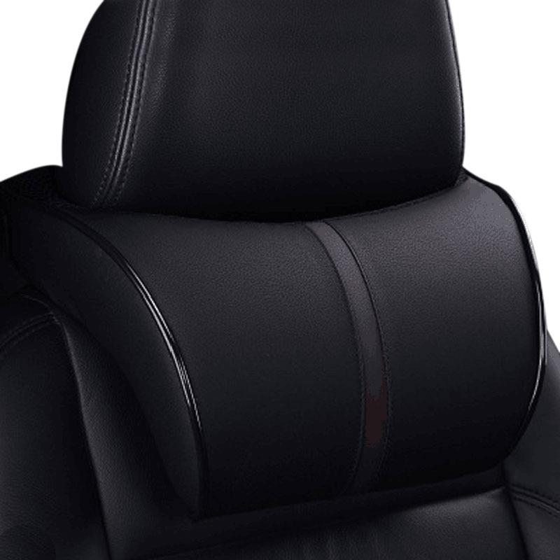 PU Leather Car Headrest Auto Neck Protection Rest Pillows Neck Rest Seat Headrest Cushion Pad oparcie na głowę do samochodu|Neck Pillow| |  - title=