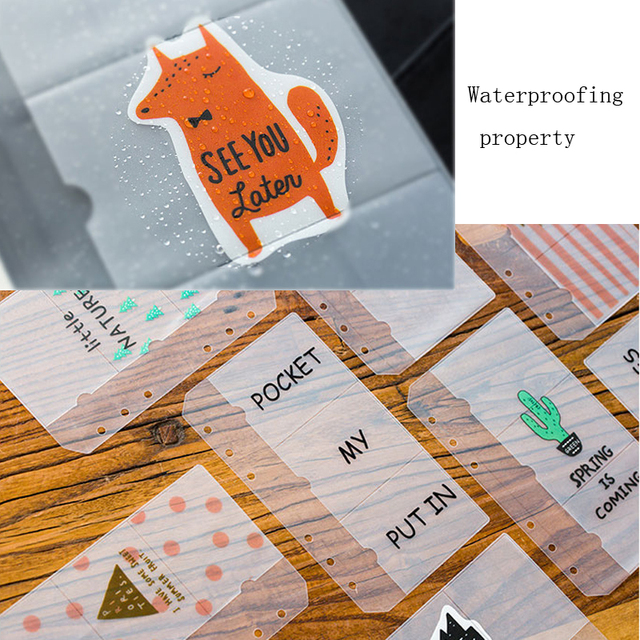 Fromthenon mignon sac de rangement pour ordinateur portable Transparent fermeture à glissière Pvc sacs planificateur accessoires pour Filofax 6 trous pochette journal papeterie