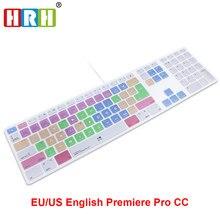 HRH Защитная крышка клавиатуры для Apple, Проводная клавиатура USB Для iMac G6