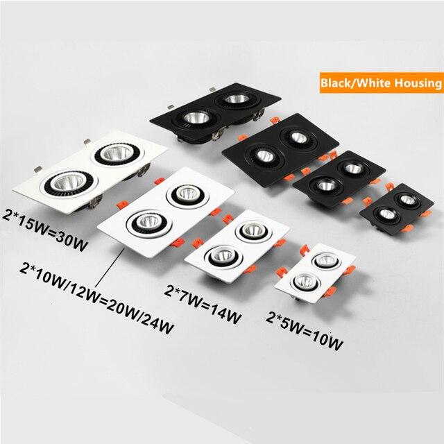 [DBF]360 Angle Adjust LED Recessed Downlight 10W 14W 20W 24W LED Ceiling Spot Light 3000K/4000K/6000K Black/White Housing Light 2