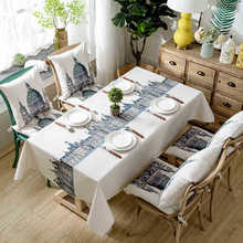 Cross-Border Exclusively for Cotton Digital Printing Waterproof Castle British Style Coffee Table Tablecloth Table Cloth цена 2017