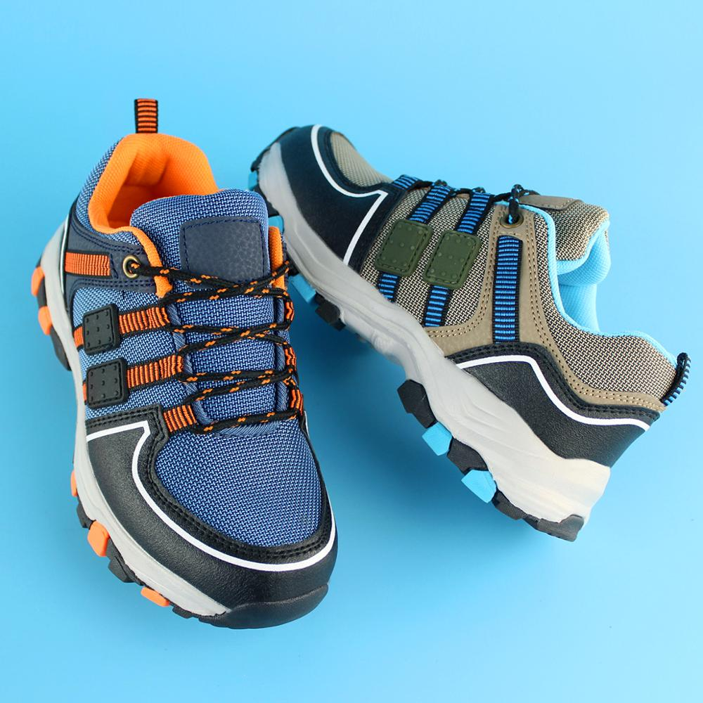 Children Outdoor Sports Hiking Boots Teenagers Mountain Climbing Trekking Shoes Spring/Autumn Ankle Boots Kids Classic Sneakers