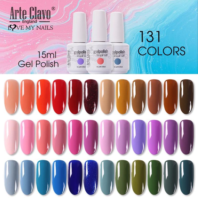 Arte Clavo Nail Gel Varnish Autumn Colors Gel Nail Polish 15ml Manicure Top Base All For Nails Uv Semi Permanent Primer Gellak Mega Sale 675849 Cicig