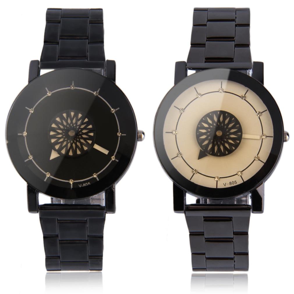 Personalized Flower Rotation Dial Design Unisex Watch Men Women Quartz Waterproof Wristwatches Lover's Watches Sport RelogioN