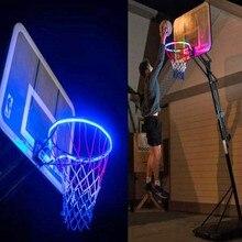 Светодиодный баскетбольный обруч, солнечный светильник, баскетбольный обруч с датчиком, светодиодный светильник на солнечной батарее-8 режимов вспышки