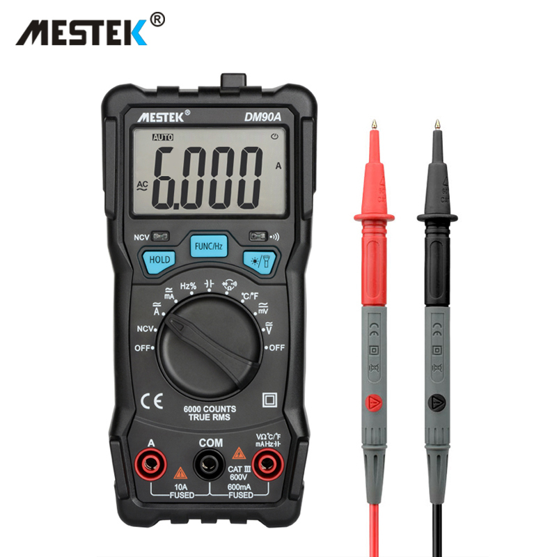 Auto Range Tester Multimetre 6000 Counts LCD Display AC//DC Ammeter Voltmeter Frequency Diode Measuring Tools Mini Multimeter Digital