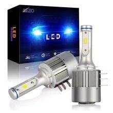 Aileo farol de led cob chip h15, 2 peças, led, 8000lm, 72w, feixe alto e luz diurna, substituição de estoque 6000k para audi a5 a6 q7