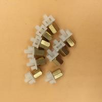 10pcs Eco solvent ink damper connector with copper nut for Mutoh VJ1618 VJ1614E printer DX6 DX7 printhead ink damper adapter