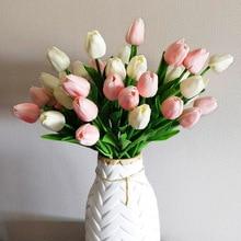 20pcs Mix Tulip Artificial Flower Real Touch Artificial Bouquet Fake Flower for Wedding Decoration Flowers Home Garden Decor
