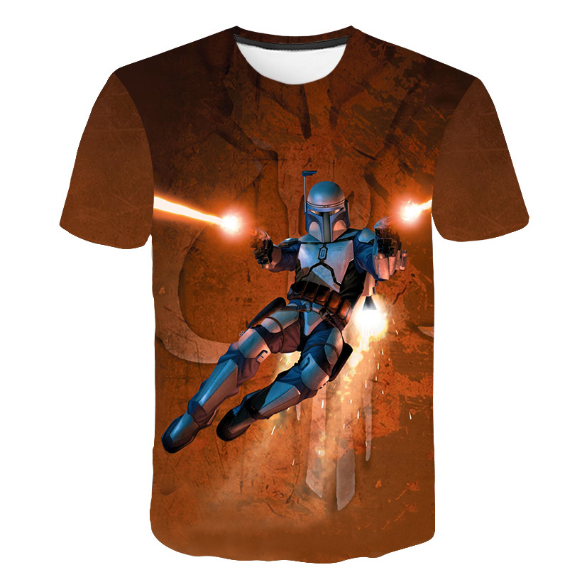 3D Baby Yoda Star Wars T Shirt Kids 2020 Mandalorian Child T-shirt Funny Cartoon Anime Boys Clothes Teenage Camisetas Tees Tops