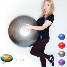 Мячи для йоги Пилатес фитнес спортзал фитбол для баланса тренировки мяч 45/55/65/75/85 см при определении размера vedio
