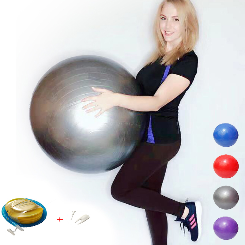 Yoga-Balls Balance Fitball Exercise Fitness Pilates Gym with Pump 75/85CM title=