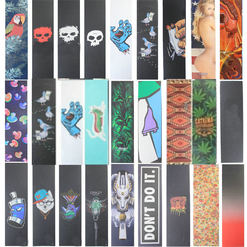 83cm New Thick Skateboard Sandpaper Waterproof Longboard Grip Tape Fish Board Sticker Scooter Sandpaper Wear-resist Stickers