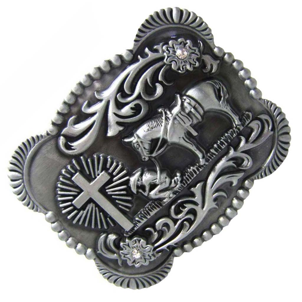 Fashion Mens American Cowboy Antique Silver Alloy Buckle Western Belt Buckle