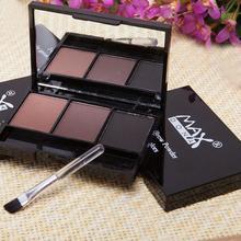 Палетка теней для бровей, косметика, усилитель для бровей, профессиональный водостойкий макияж, тени для век с кисточкой, коробка с зеркалом