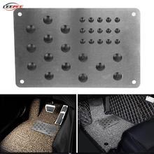 Anti Slip Car Brake Pedal Assist Pad Carpet Patch Foot Heel Floor Mat Plate Alloy Truck Van Off Road 4x4 Automotive Accessories