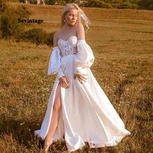 Принцесса атласные свадебные платья со съемным длинным с пышным