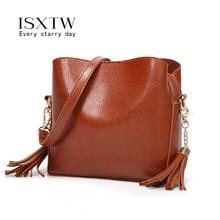 ISXTW 2019 Fashion Bag for Women Vintage Tassel Messenger High Quality Retro Shoulder Simple Crossbody Tote /A33