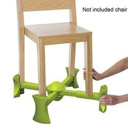 Silla portátil Booster asiento de viaje estera antideslizante para elevación de niños se adapta a la mayoría de sillas Marco de aumento ajustable